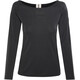 super.natural Scoop Neck LS 175 Langærmet T-shirt Damer sort